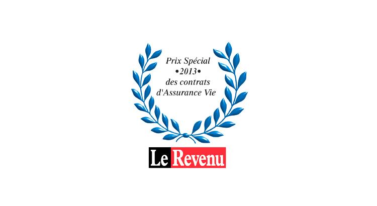 logo du trophee le revenu, prix special 2013 des contrats d'assurance vie