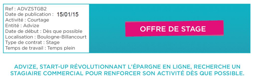 Offres de stage Bac +2 +3 finance gestion de patrimoine courtier en assurance vie Advize